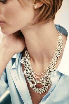 Chunky Silver Sutton Necklace | Stella & Dot Shop online www.stelladot.com/norma