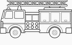 Free Printable Fire Truck Coloring Pages For Kids:   winter ...
