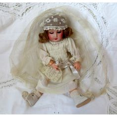 BLEUETTE ANTIQUE FRENCH DOLL - FIRST COMMUNION