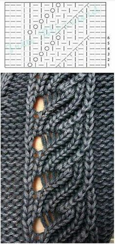 Driving tracery track – knitting stitches how to Lace Knitting Patterns, Knitting Stiches, Crochet Cardigan Pattern, Knitting Charts, Easy Knitting, Knitting Designs, Crochet Stitches, Lace Patterns, Cable Knitting