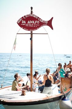 Summer holiday magic comes in the form of a long lazy lunch at 'Da Adolfo' in Positano! The restaurant is only accessible by boat, is perfectly located right on the beach, is low key with that perfect amount of Italian rustic charm, the staff are friendly, the place is buzzing and the food is simply delicious!