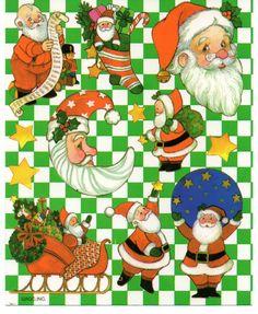 Vintage American Greeting Sticker, SANTA CLAUS CHRISTMAS, 1 Sheet   eBay