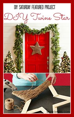 Easy & Inexpensive DIY Christmas Project | DIY Saturday Featured Project @ A Cultivated Nest: | DIY Twine Star