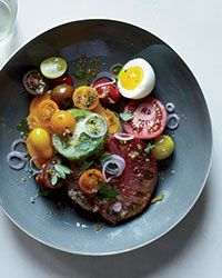 Heirloom Tomato Salad with Anchovy Vinaigrette Recipe