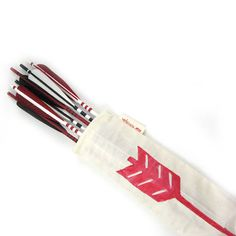 Black, Red and White War Arrows