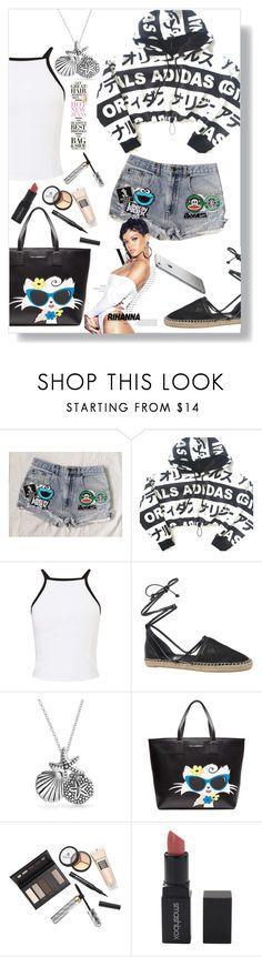 """Hot Shorts"" by ildiko-olsa ❤ liked on Polyvore featuring adidas, Miss Selfridge, Circus By Sam Edelman, Balenciaga, Bling Jewelry, Karl Lagerfeld, Borghese and Smashbox"