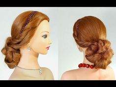 Прическа на выпускной, вечерняя прическа. Romantic prom hairstyle tutorial - YouTube