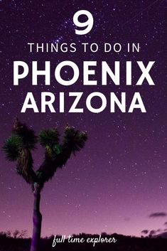 9 Unique Things to do in Phoenix, Arizona Full Time Explorer Arizona Travel Destinations | Arizona Honeymoon | Backpack Arizona | Backpacking Arizona | Arizona Vacation | Arizona Photography | Wanderlust | Off the Beaten Path | Budget Travel #travel #honeymoon #vacation #backpacking #budgettravel #bucketlist #wanderlust #Arizona #USA #America #UnitedStates #visitArizona #TravelArizona