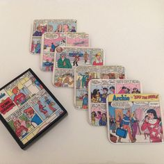 The Archies Vinatge Comic Coasters by ComicKamikaze on Etsy