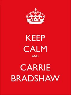 Haha! Love it. Love her. Love Candace Bushnell.