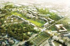Environment Design, Built Environment, Space Architecture, Sketch Architecture, Photoshop Rendering, Urban Design Plan, Urban Landscape, Landscape Designs, Cool Landscapes