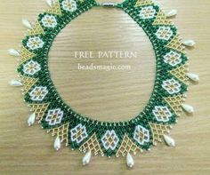 Free pattern for necklace Hibiscus