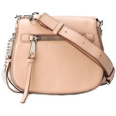 Marc Jacobs Recruit Small Crossbody Bag (2.475 HRK) ❤ liked on Polyvore featuring bags, handbags, shoulder bags, pink, crossbody shoulder bags, marc jacobs handbags, leather crossbody handbags, red leather purse and leather handbags