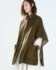 Image 2 of DOUBLE-SIDED CAPE from Zara