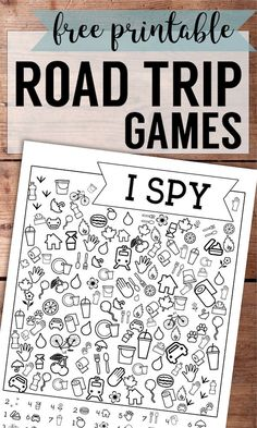 Free Printable Road Trip Games For Kids {I Spy}. DIY I spy with my little eye game for travel or home activty. Keep kids happy. #papertraildesign #ispy #roadtrip #kidsactivities