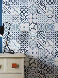 1000 ideas about papier peint bleu on pinterest - Papier peint saint maclou ...