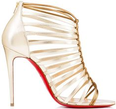 913205c61c10 Christian Louboutin Milla 100 metallic sandals Metallic Sandals