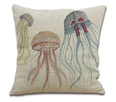 OneMtoss ®24'Inches Sea Life Series Cotton Linen Square Throw Pillow Case Cushion Cover Three Jellyfish OneMtoss http://www.amazon.com/dp/B014F3CU2I/ref=cm_sw_r_pi_dp_9OGZwb1PBE6B5