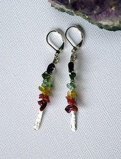 Tourmaline Cascade - Earrings