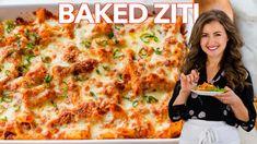 Creamy Shrimp Pasta Recipe (VIDEO) - NatashasKitchen.com Kitchen Recipes, Soup Recipes, Salad Recipes, Chicken Recipes, Cooking Recipes, Beef Recipes, Pasta Casserole, Pasta Bake, Salmon Patties Recipe