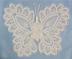 Picture of Butterfly Doily 2 Crochet Pattern
