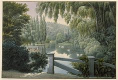 A beautiful panoramic and romantic lanscape, printed on high quality non woven paper - Swan Lake - Made in France Scenic Wallpaper, Forest Wallpaper, Room Wallpaper, Wallpaper Murals, English Cottage Interiors, La Malmaison, Traditional Wallpaper, Swan Lake, Inspiration Wall