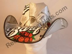 e7d7af860d825 Our Barq s Root Beer Style Soda Carton Cowboy Hats are made from actual  beer cases!