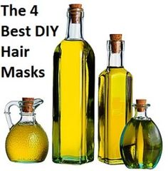 The 4 Best DIY Hair Masks---honey+olive oil-----avocado+olive oil+honey----- egg+yogurt/mayonnaise----coconut milk+avocado