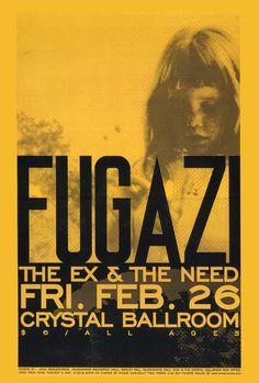 Fugazi gig poster February 26