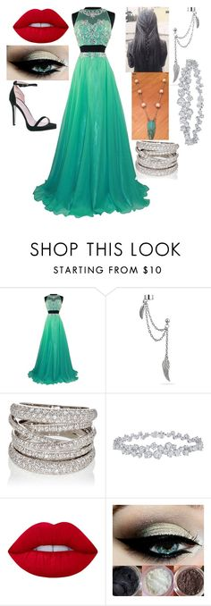 """""""Christmas Ball - Brooklyn"""" by twilightphonix on Polyvore featuring John Richmond, Bling Jewelry, Sidney Garber, Harry Winston, Lime Crime and Boohoo"""