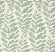 Odhni++(P627/03)+-+Designers+Guild+Wallpapers+-+A+pretty+flowing+Batik+leaf+design+with+a+vintage+distressed+print+effect.+Available+in+a+range+of+colours,+shown+here+in+duck+egg+green+colourway.+Paste+the+wall.+Please+request+sample+for+true+colour+match.