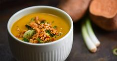 Édesburgonya-krémleves kókusztejjel | NOSALTY Fall Recipes, Soup Recipes, Healthy Recipes, Healthy Food, Thai Red Curry, Sugar Free, Paleo, Food And Drink, Chicken
