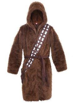 Star Wars Chewbacca Fleece Hooded Adult Robe One Size 8b756dde5
