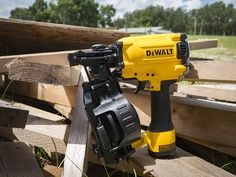 DeWalt DW45RN Coil Roofing Nailer  Are you ready to nail it? Installing shingles, siding, house wraps, and more just got easier with the 5.2 pound DeWalt coil roofing nailer. #dewalt #roofing #nailer  http://www.protoolreviews.com/tools/air/roofing-siding/dewalt-dw45rn-coil-roofing-nailer/25548/
