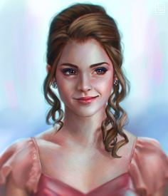 Hermione - Yule Ball by serafleur.deviantart.com on @DeviantArt oh gosh that art…