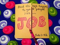 Job. Surely, you have heard of the patience of Job. Do you really know how this story goes? Inexpensive, easy, and unique children's Bible lesson. Free to all! Take a look on the blog tonight!