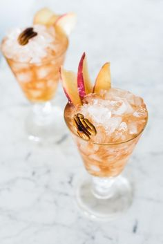 Bitter Pecan Peach Dandy cocktail