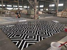 Prepaving -  Waterjet Marble Flooring Medallion Inlay #marblemedallion #marbleflooringdesign #marbleinlay