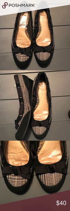 Sperry Top Siders black Candle wedges EUC Sperry Top Siders black candle wedges. Size 7 1/2. Only been worn a hand full of times. Sperry Top-Sider Shoes Wedges