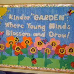 Kindergarten bulletin board. would be good for May board for the graduating class going to kindergarten in the fall
