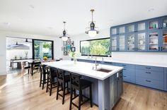 transitional kitchen by Von Fitz Design