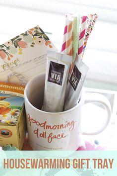 DIY Housewarming Gift Tray and Basket Ideas