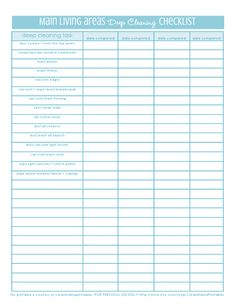 Master Deep Clean Checklist Can I just give this to a