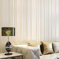 Modern Simple Striped Wallcoverings ,Glitter Vertical Stripe Wallpaper Roll ,Desktop Wall paper, wallpaper of walls