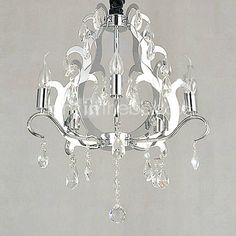 Elegant Crystal Chandelier with 5 Lights $219.99