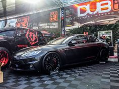 SEMA Show: Check out these wild Tesla modifications Tesla Owner, Las Vegas Shows, Cabin, World, Model, Cabins, Scale Model, Cottage
