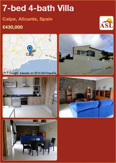 7-bed 4-bath Villa in Calpe, Alicante, Spain ►€430,000 #PropertyForSaleInSpain