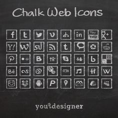 Free Chalk Web Icons
