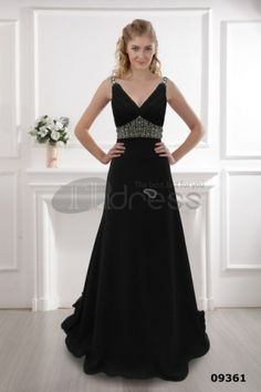 Black dress V-neck dress 2012 black dress hot dress