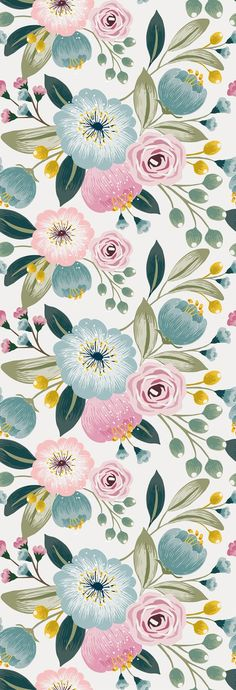 Removable Wallpaper Peel and Stick Wallpaper Self Adhesive Wallpaper Pastel Flowers Nursery Wallpaper Iphone Live Wallpaper, Nursery Wallpaper, Iphone Background Wallpaper, Tumblr Wallpaper, Aesthetic Iphone Wallpaper, Wallpaper Roll, Flower Wallpaper, Peel And Stick Wallpaper, Aesthetic Wallpapers